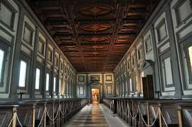 The reading room at the Laurentian Medici library has the quiet grace of a Renaissance church.
