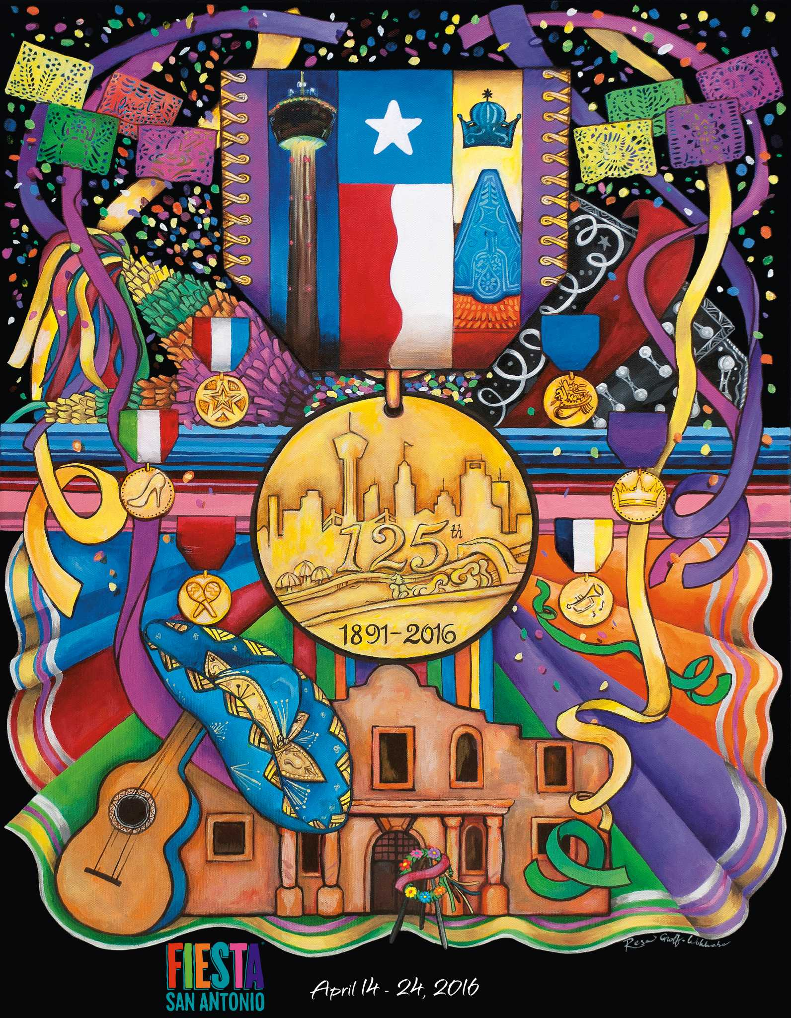 The 2016 fiesta poster is unveiled san antonio express news for Making prints of paintings