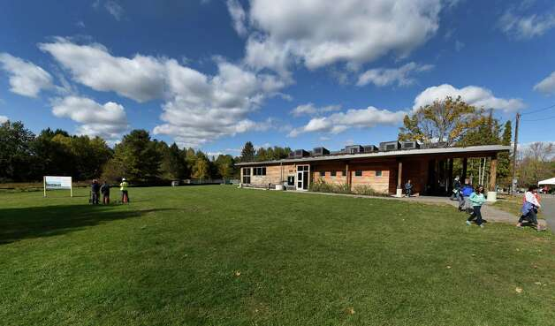 Five Rivers Environmental Education Center had the ceremonial ground breaking for a new education center today near their existing education center on their campus Thursday morning Oct. 15, 2015 in Bethlehem, N.Y.    (Skip Dickstein/Times Union) Photo: SKIP DICKSTEIN