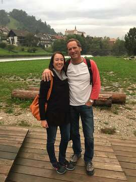 Russ and Jill Sartori, of Tomales, in Skofja Loka, Slovenia