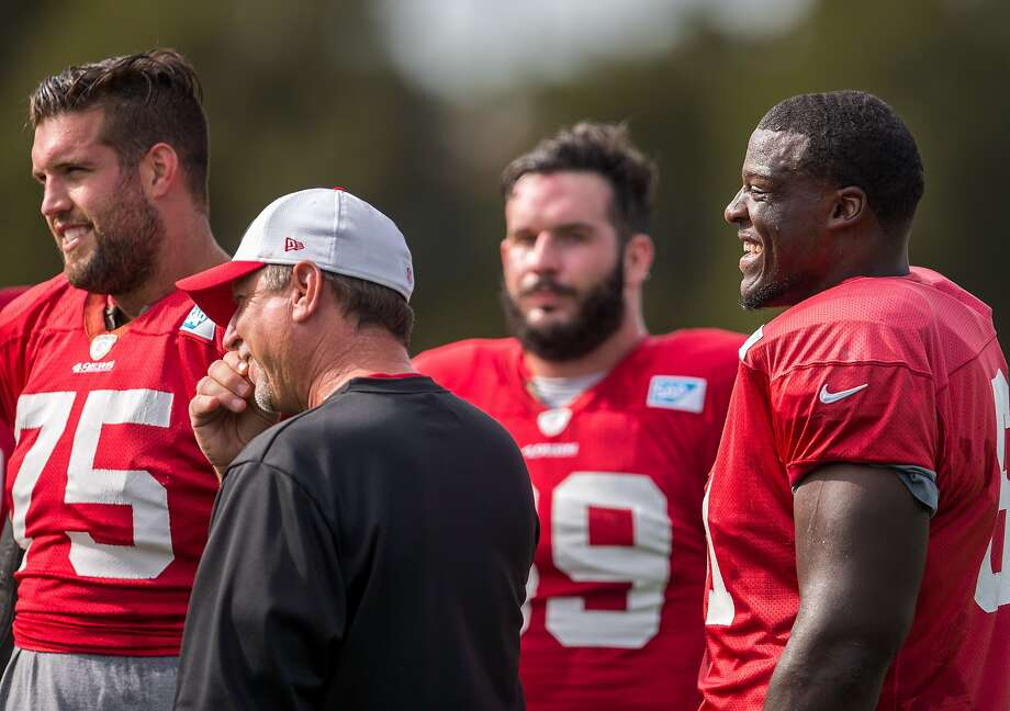 Guard Andrew Tiller practices with the team at the 49er's training facility on Thursday, Oct. 15, 2015 in Santa Clara, Calif. Photo: Nathaniel Y. Downes, The Chronicle