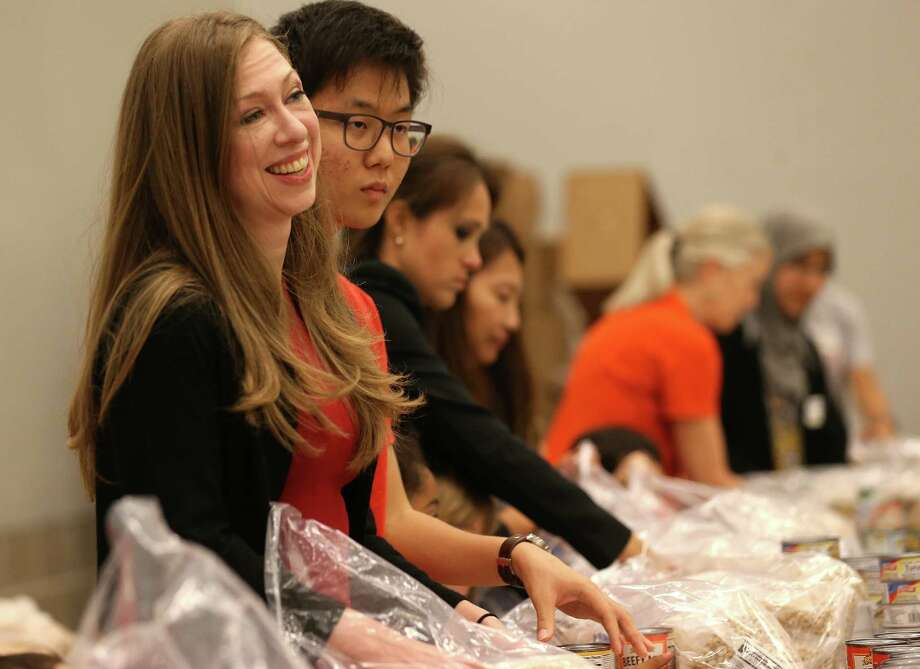 Photos of Chelsea Clinton, daughter of Hillary and Bill Clinton, visit to Houston Food Bank on Thursday, Oct. 15, 2015, in Houston. Photo: Elizabeth Conley, Houston Chronicle / © 2015 Houston Chronicle