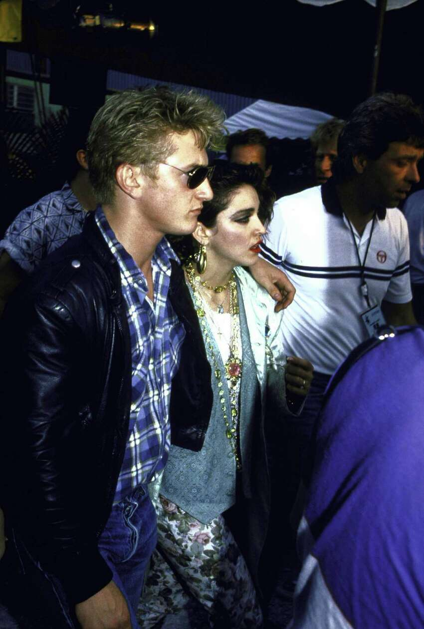 Actor Sean Penn and singer Madonna, 1985.