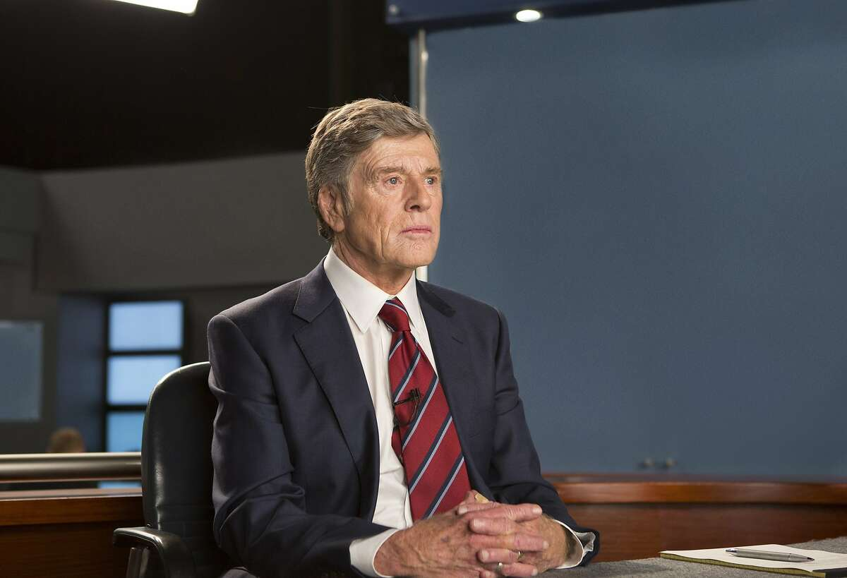 In this image released by Sony Pictures Classics, Robert Redford portrays Dan Rather in a scene from,