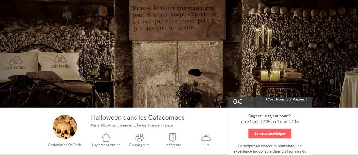 Airbnb is holding a contest to spend Halloween in the Catacombs of Paris.