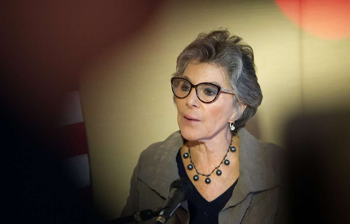 U.S. Senator Barbara Boxer speaks during a press conference in San Francisco on October 16, 2015.