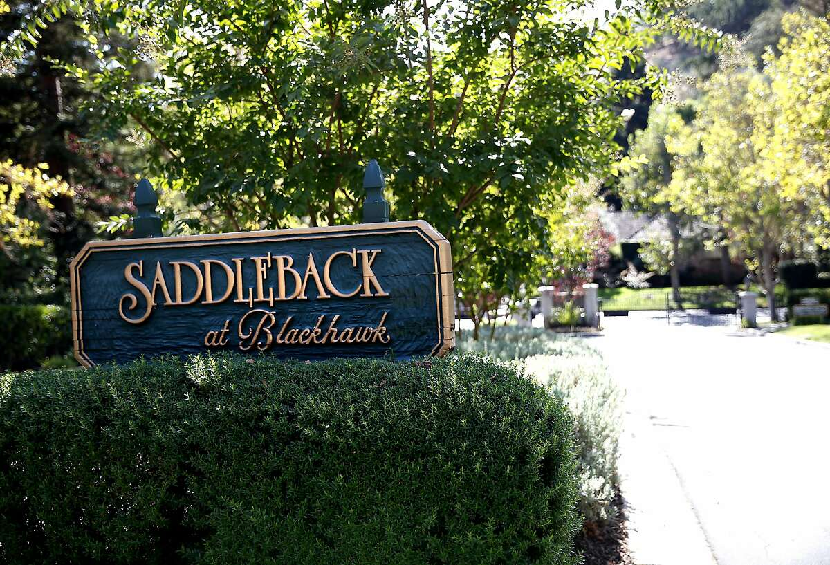 The Saddleback at Blackhawk gated community, home to some of the worst water-wasters in the east bay, in Danville, Calif., on Friday, October 16, 2015.