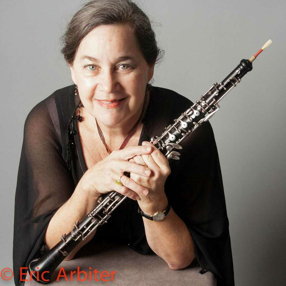 Oboist Anne Leek is a Houston Symphony musician who also leads the chamber ensemble Greenbriar Consortium, which gives free concerts several times each year. Photo: Eric Arbiter