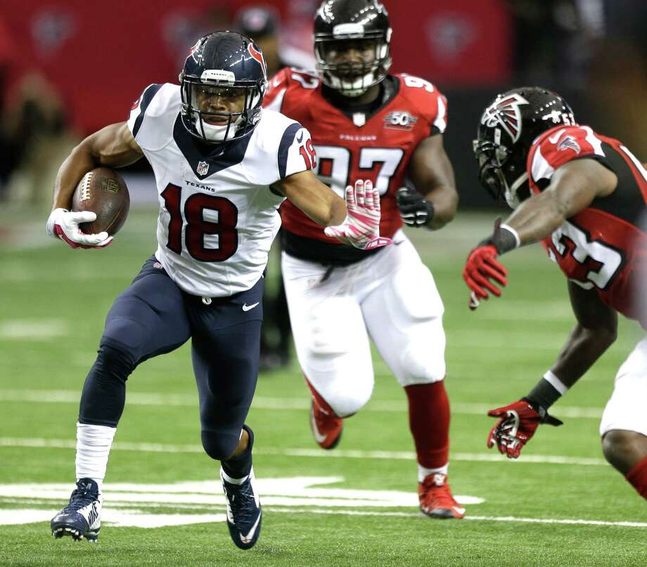 With 22 receptions in his first year as a Texan, wide receiver Cecil Shorts is on pace for a career high despite sitting out a game with a shoulder injury. Photo: Brett Coomer, Staff / © 2015  Houston Chronicle