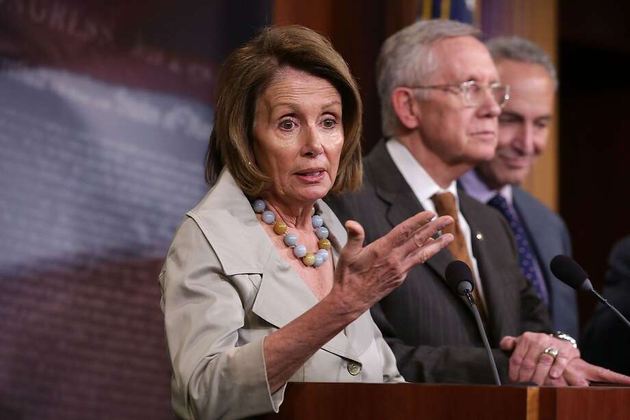 House Minority Leader Nancy Pelosi holds her Democratic caucus together by building consensus, allies say. Photo: Alex Wong, Getty Images