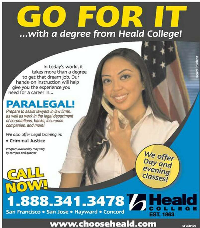 An advertisement for Heald College, a for-profit institution that Greenwich-based Palm Ventures sold for $395 million to Corinthian Colleges. Photo: Contributed Photo / Stamford Advocate Contributed