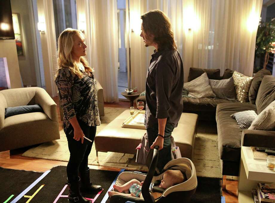 "In this scene from ""Nashville,"" Hayden Panettiere (left) plays new mother Juliette Barnes. A spokeswoman for Panettiere says that the ""Nashville"" star is voluntarily seeking professional help at a treatment center while battling postpartum depression. Panettiere gave birth to her daughter in December. Photo: Mark Levine, ABC Via AP / American Broadcasting Companies,"