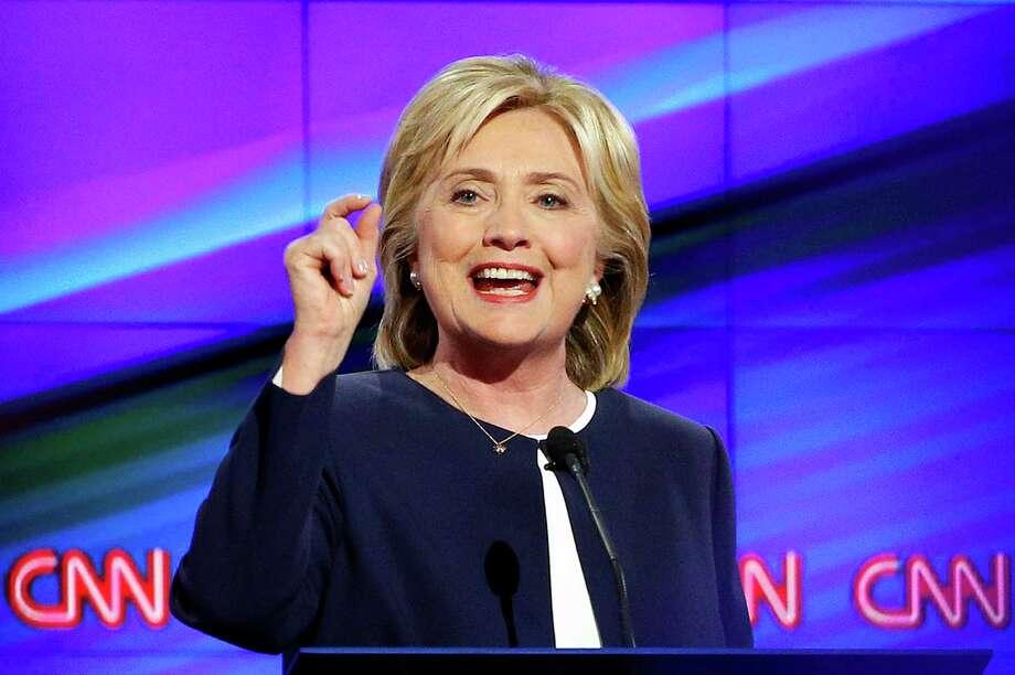 At CNN's Democratic presidential debate Tuesday in Las Vegas, Hillary Clinton and Sen. Bernie Sanders clashed but Clinton won. Photo: John Locher /Associated Press / AP