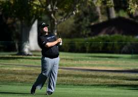 NAPA, CA - OCTOBER 16:  Colt Knost plays a shot during the second round of the Frys.com Open on October 16, 2015 at the North Course of the Silverado Resort and Spa in Napa, California.  (Photo by Steve Dykes/Getty Images)