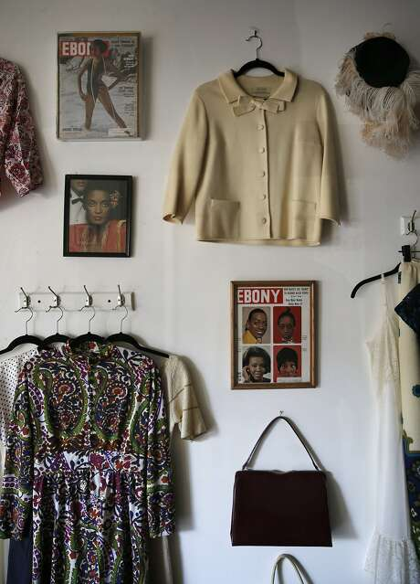 Regina's Door is a consignment shop specializing in vintage clothing, was started by Regina Evans, a survivor of sex trafficking is celebrating her one year anniversary in Oakland, Calif., at the shop she uses to raise money and awareness for survivors of human trafficking and employs women who survived the sex trade. Regina is seen in her shop on Fri. October 16, 2015. Photo: Michael Macor, The Chronicle