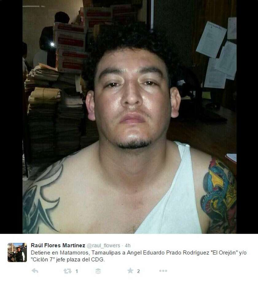"El OrejónAngel Eduardo Prado Rodríguez is known as ""Long Ears"", perhaps for this appearance. He was taken into custody on Oct. 16, 2015 near the Texas border. Authorities said he was one of the leaders of the Gulf Cartel.  Source: Twitter Photo: Twitter Screengrab"