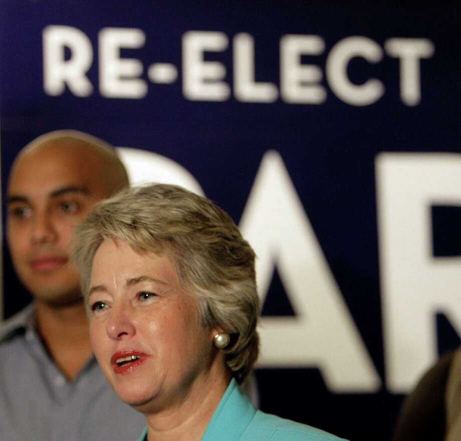 Houston Mayor Annise Parker says allowing city officials to serve longer terms would improve government but other officials disagree. Photo: James Nielsen, Staff / © 2011 Houston Chronicle