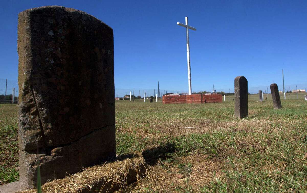 Roughly 30 marked graves stand in the Old Imperial Farm Cemetery.