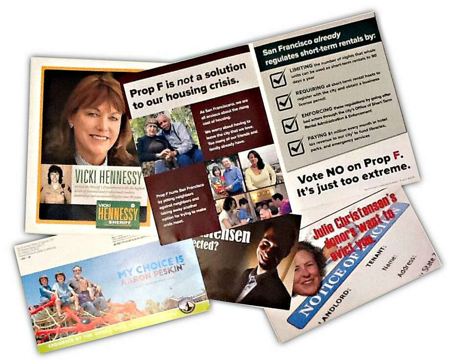 Various campaign brochures for the San Francisco ballot in October. Photo: Chronicle Graphic