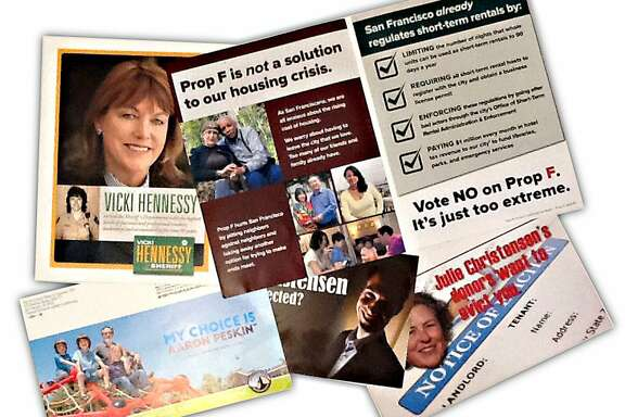 Various campaign brochures for the San Francisco ballot, October 17, 2015.