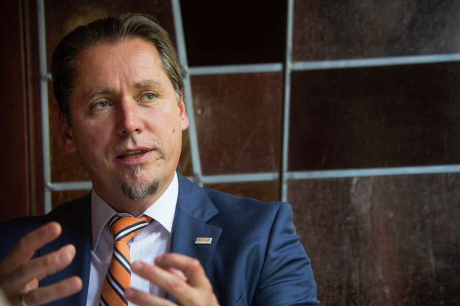 Remi Eriksen, CEO of DNV GL, says energy companies must balance cutting costs with investment in new technology. Photo: Brett Coomer, Staff / © 2015 Houston Chronicle