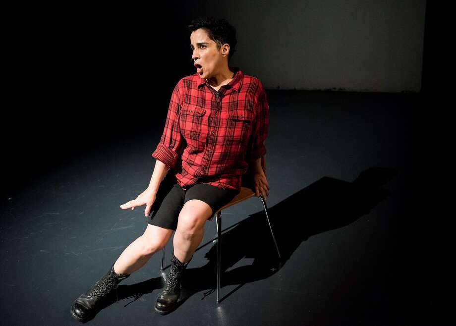 """Marga Gomez slips into a wild array of characters, body parts and so on in """"Pound."""" Photo: Ian Douglas"""