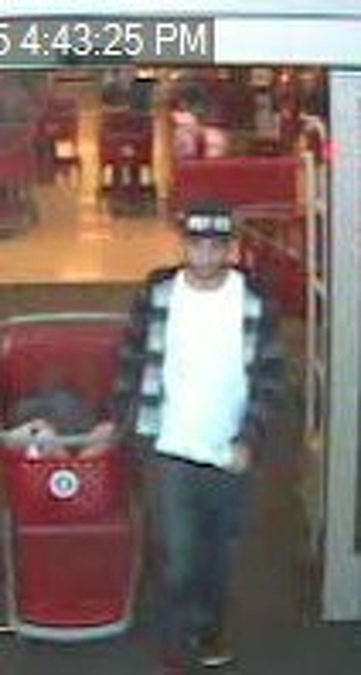 Connecticut State Police are looking for this suspect in an Oxford theft