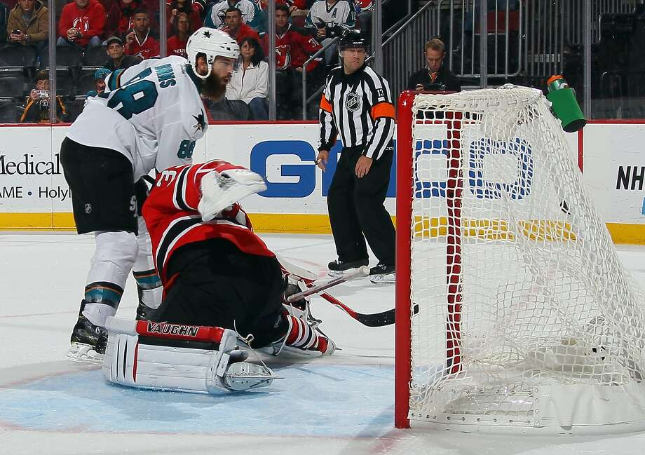 San Jose Sharks defenseman Brent Burns is third in the NHL in shots taken, and easily No. 1 among defensemen. Photo: Bruce Bennett, Getty Images