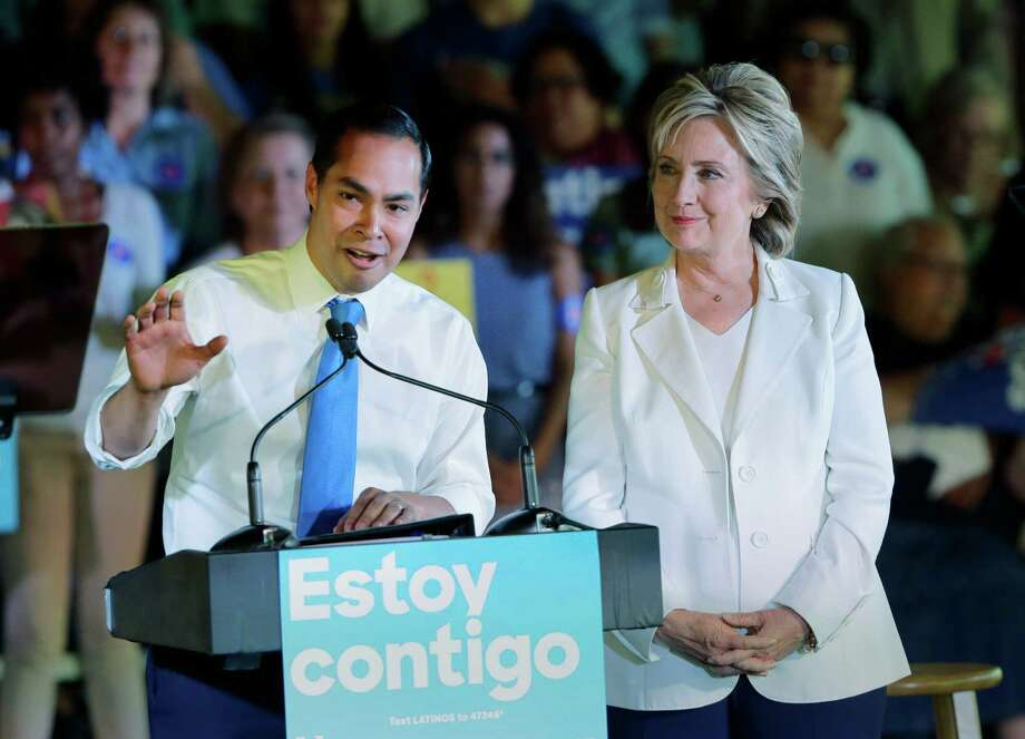 Former secretary of state Hillary Clinton snagged an early endorsement in October from former San Antonio mayor and current Secretary of Health and Human Services Julian Castro.  Photo: Eric Gay, STF / AP