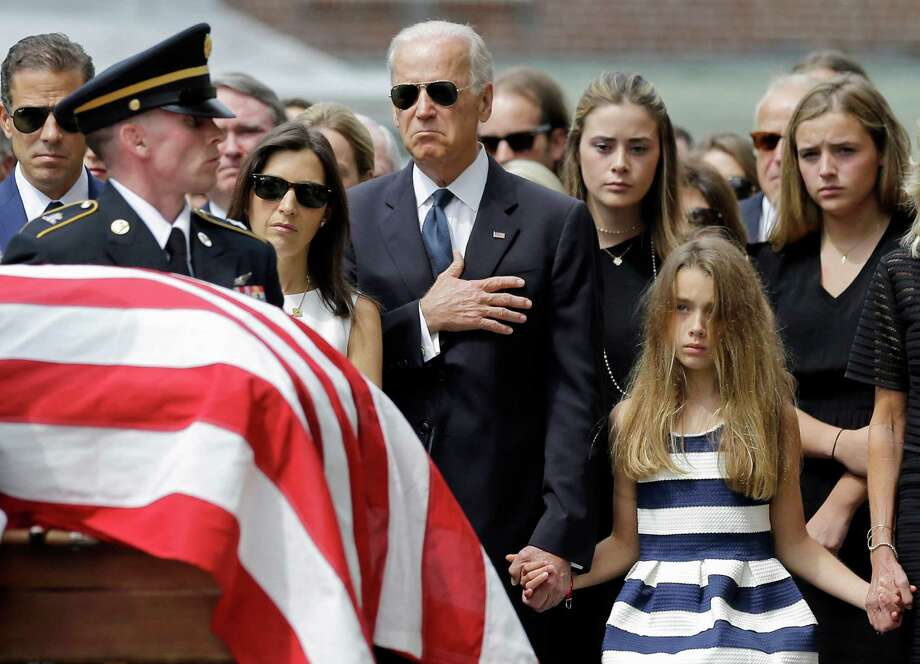 Vice President Joe Biden, shown at his son's funeral in June, didn't fare well in his past presidential bids. Photo: Associated Press /File Photo / AP