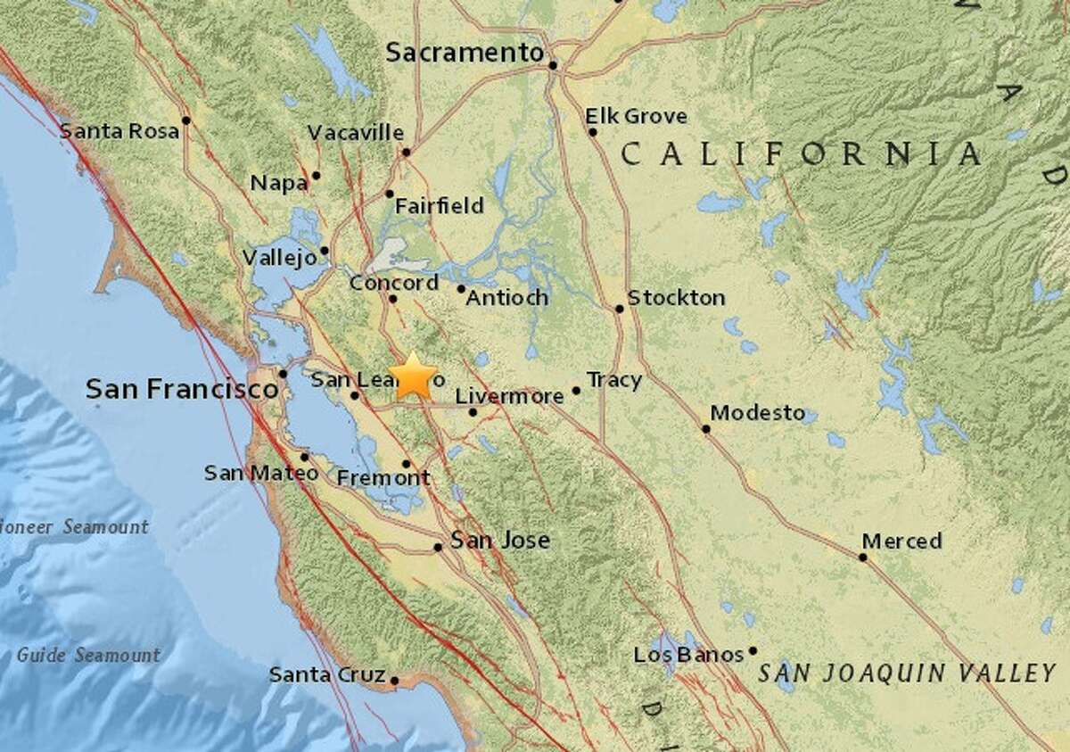 Two earthquakes -- the first a 2.8-magnitude, followed by a 2.9 -- hit San Ramon just seconds apart on Saturday, Oct. 17, 2015, according to the U.S. Geological Survey.