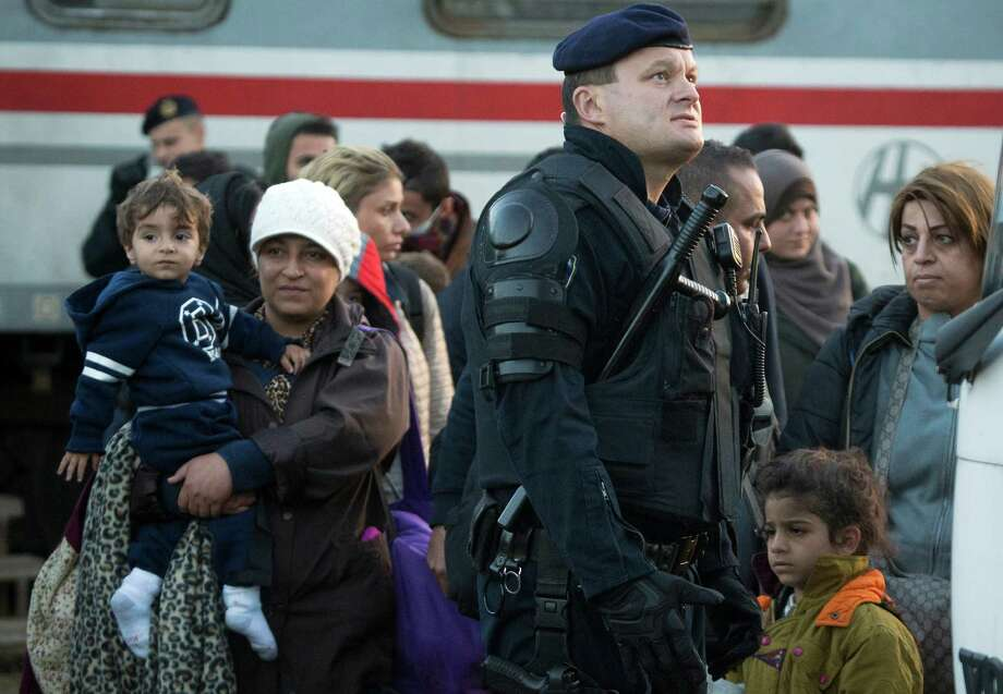 After Hungary shut down its border with Croatia to the free flow of migrants, Croatia redirected thousands of people toward its border with Slovenia, where officials have said they can permit up to 2,500 people a day. Refugees are then routed toward richer countries like Germany or Austria.  Photo: Darko Bandic, STF / AP