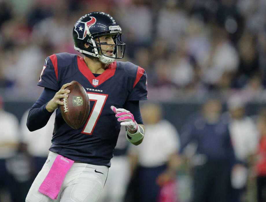 Houston Texans quarterback Brian Hoyer (7) looks to pass against the Indianapolis Colts during the first half of an NFL football game Thursday, Oct. 8, 2015, in Houston. (AP Photo/Patric Schneider) Photo: Patric Schneider, FRE / Associated Press / FR170473 AP
