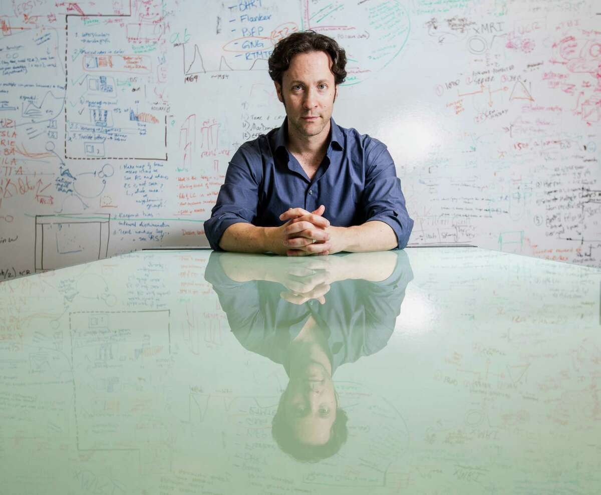 David Eagleman poses for a portrait in his lab at Baylor College of Medicine in Houston. Eagleman is a neuroscientist and writer. ( Jon Shapley / Houston Chronicle )