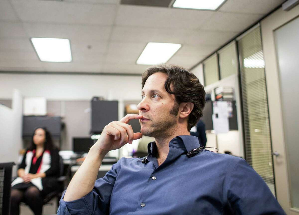 David Eagleman during a meeting with researchers in his lab at Baylor College of Medicine. ( Jon Shapley / Houston Chronicle )