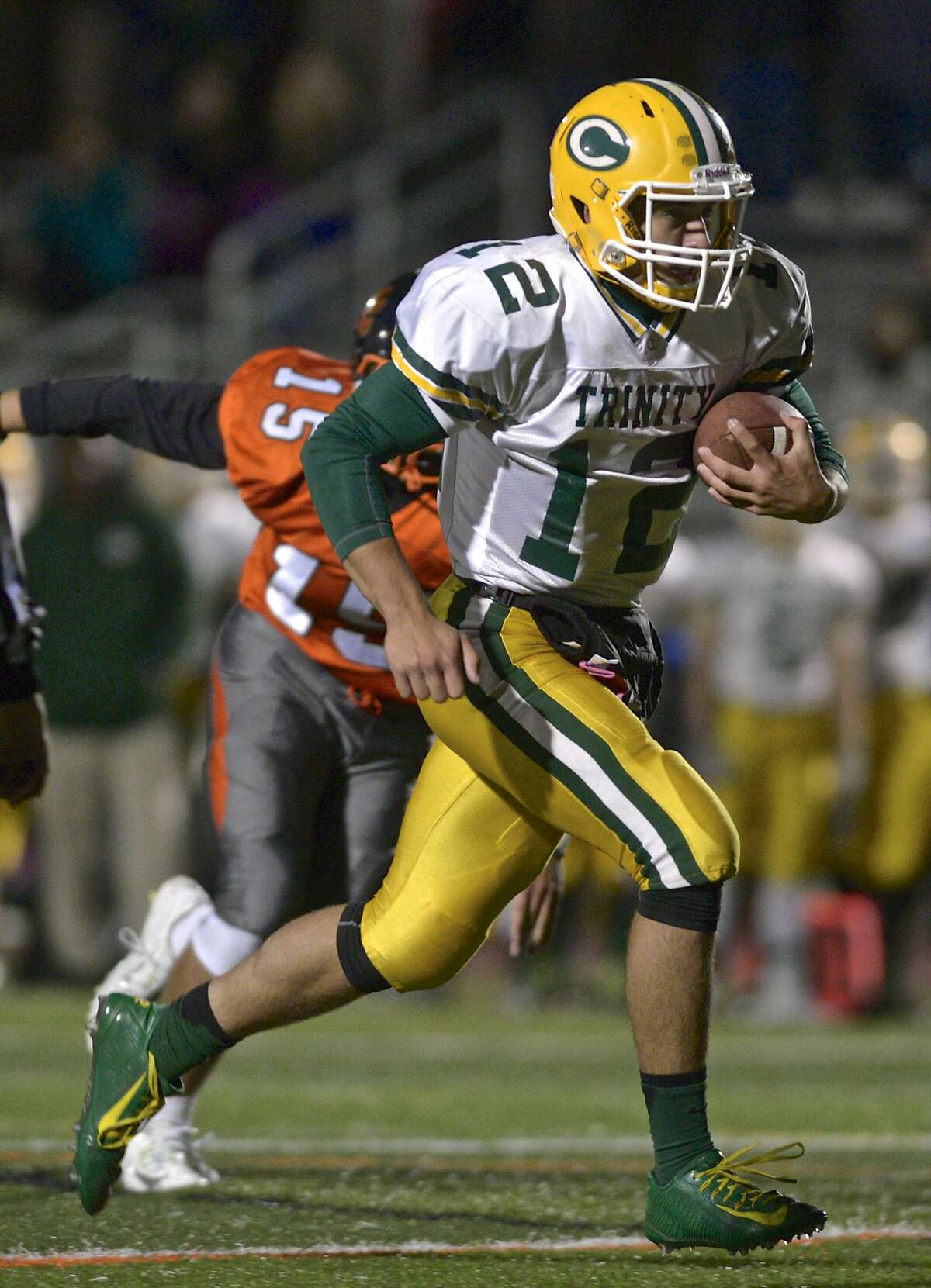 Three of the Crusaders' first four games have been decided by five or fewer points. In addition to defeating Ridgefield 26-21 on Friday, the Crusaders fell 42-38 to Greenwich on Opening Day and edged Norwalk 22-20 the following week. Even Week 3's clash with Trumbull - a 32-20 win - was close. Trinity knows it can win close, grind-it-out games, something that could bode well as the games get bigger.