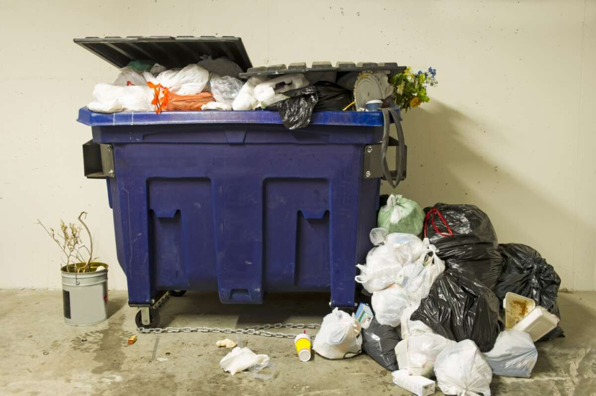 Employee's wife found out he was cheating. He had to spend the day retrieving his belongings from the dumpster.