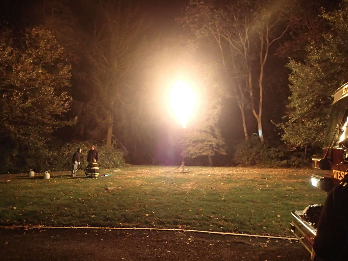 The Westport Fire Department responded to a propane leak Saturday night at Red Coat Lane.