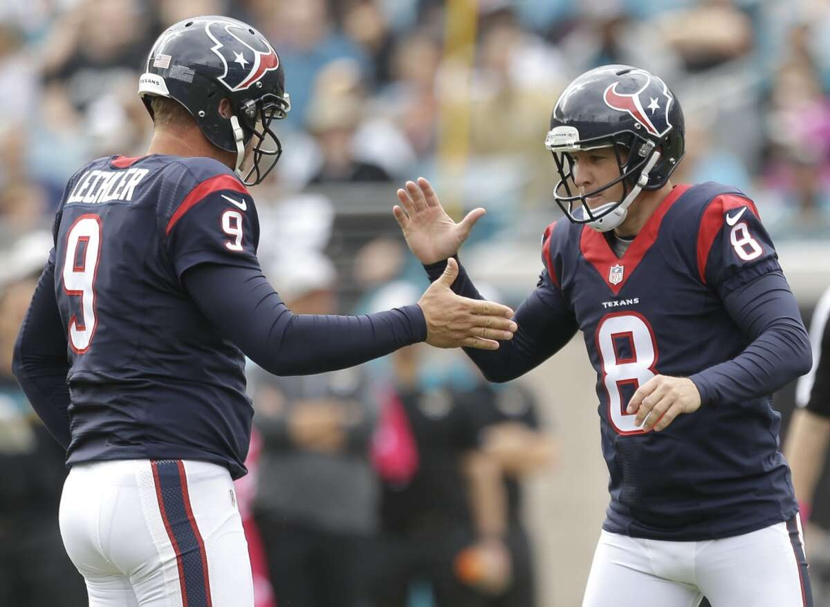 Shane Lechler (9) got a $1.8 million contract for 2016, while kicker Nick Novak's one-year deal is for $965,000.