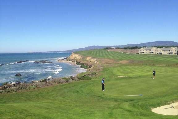 The golf course at the Ritz-Carlton in Half Moon Bay, where the Legislature's moderate Democrats hold an annual fund raiser.