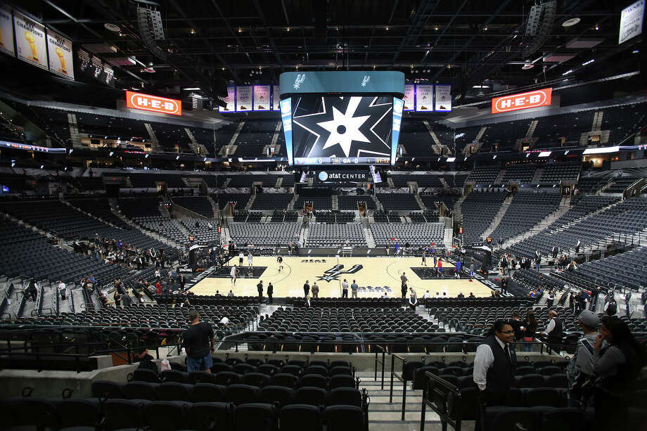 The newly renovated AT&T Center is opened to Spurs fans for the first time on October 18, 2015. Photo: Tom Reel / San Antonio Express-News