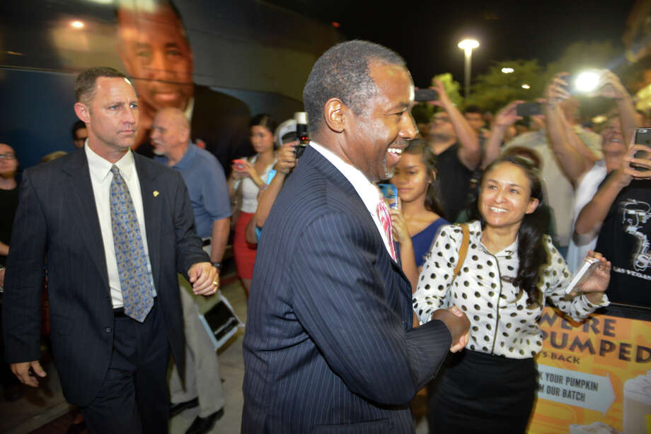 """Republican presidential candidate Ben Carson, who is on tour promoting his book """"A More Perfect Union,"""" was in San Antonio's Books-A-Million on the far West Side on Sunday. Photo: Robin Jerstad /For The San Antonio Express-News"""