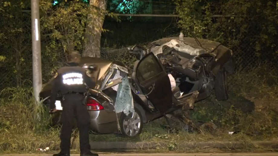 One driver is dead after a late night wreck in southeast Houston, near Orem and Foxton. Photo: Metro Video