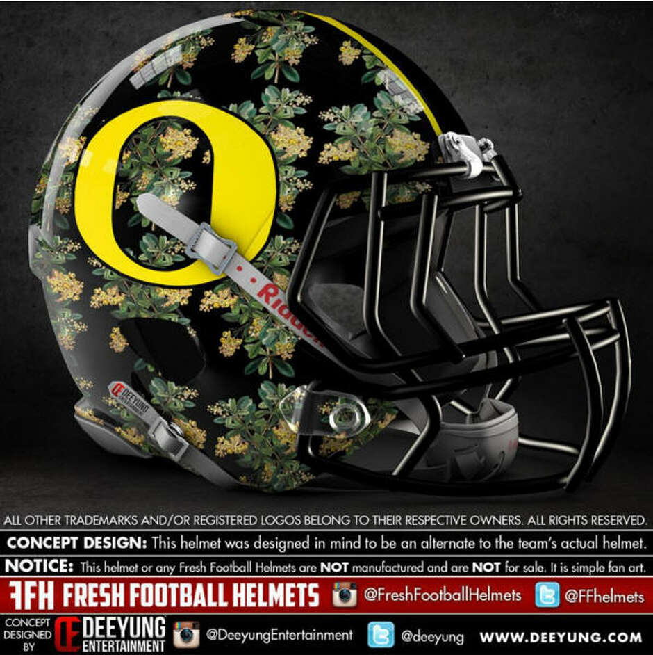 Oregon Ducks alternative football helmet