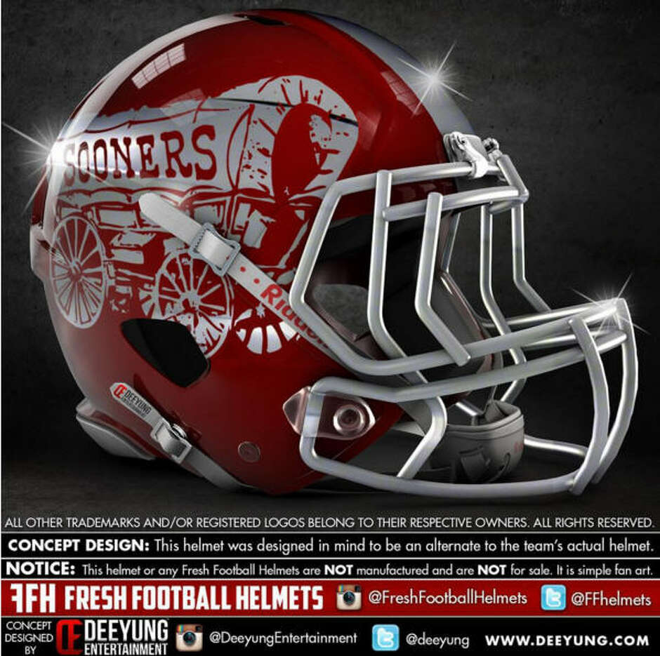 Oklahoma Sooners alternative football helmet