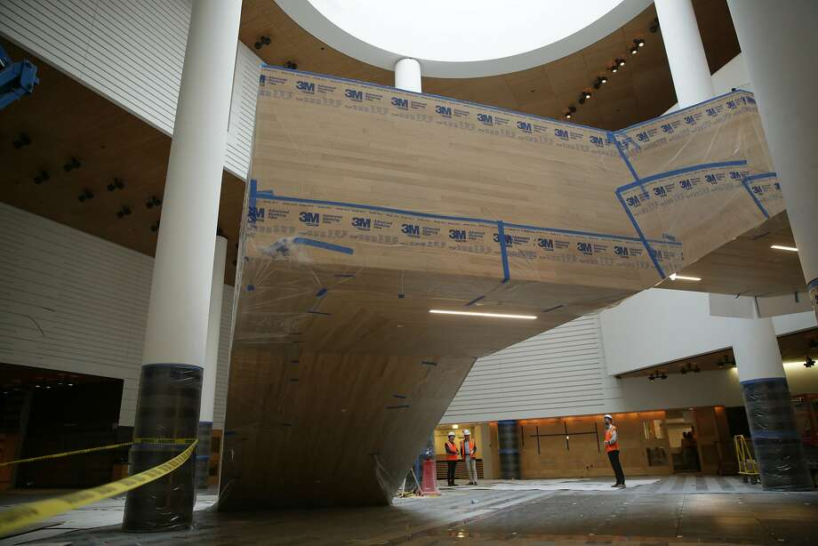 EMBARGOES FOR PRINT UNTIL 10/21 AND ONLINE TBD PER LEBA HERTZ. The new staircase undergoes work at the San Francisco Museum of Modern Art during it's expansion on Thursday, October 8,  2015 in San Francisco, Calif. Photo: Lea Suzuki, The Chronicle