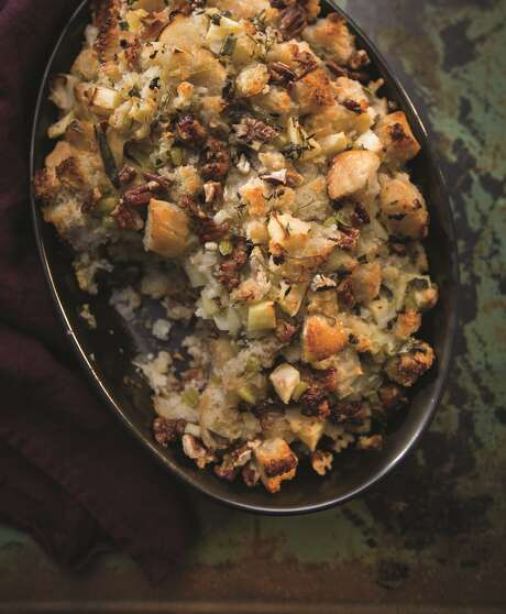 """Holiday Stuffing with Sausage, Pecans and Apples from """"Farmhouse Rules: Simple, Seasonal Meals for the Whole Family"""" by Nancy Fuller. Photo: Jamie Prescott"""