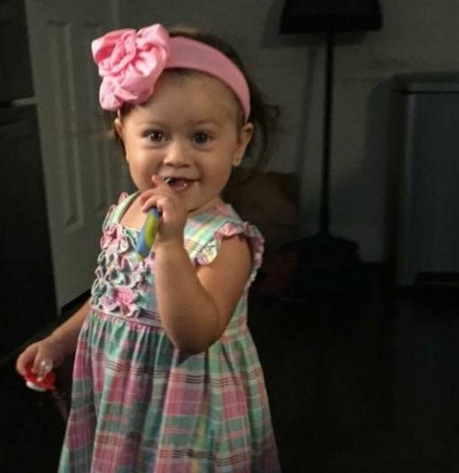 Kinley Golden, age 17 months, is undergoing treatment for a dog bite that fractured her skull and contributed to her having a stroke, according to a gofundme page set up to raise money for her medical expenses. Photo: Christian,  Carol, Via Gofundme