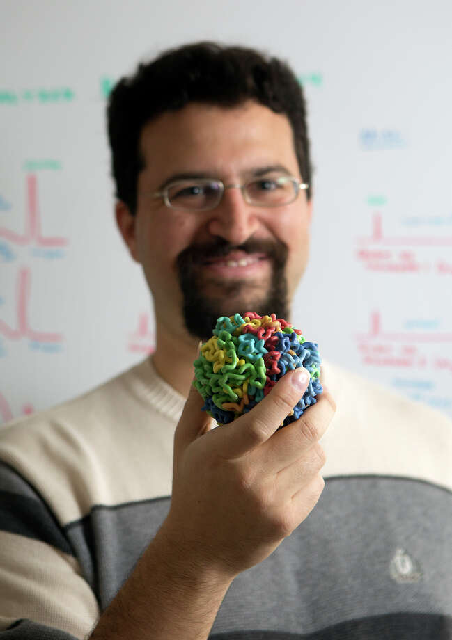 Erez Lieberman AidenAiden directs the Aiden Lab - Center for Genome Architecture at Baylor College of Medicine and teaches at Rice University. His work was central to the development of the Google Ngram and to the field of culturomics in general. Most recently, his breakthrough work has shown how the DNA in a human cell folds in upon itself. Photo: Cody Duty, Houston Chronicle / © 2015 Houston Chronicle