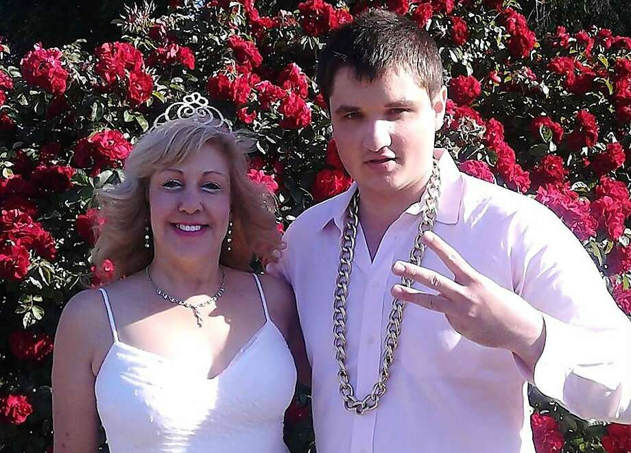 Ryan Harryman, pictured right, poses with his friend Judy Cerda during a rap video shoot. Harryman, who went by the hip-hop name 3Pac, died Saturday after being pulled off life support. He suffered severe brain damage when he went underwater during water polo practice at San Jose State University. Photo: Judy Cerda